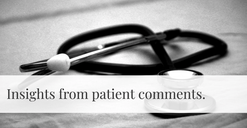 types of insights you can get from patient comments